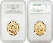 Great Britain Britannia 2001 Una And The Lion 50 Pounds 1/2 Oz Gold Ngc Ms66