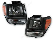 Pair Black Housing Oe Replacement Headlights For 2007-2012 Dodge Nitro