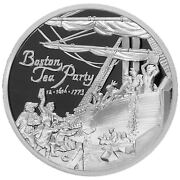 Heroes Sdwc Proof War Collection | Tea Party | 1 Oz .999 Fine Silver W Coa