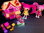 Lalaloopsy Playhouse 2 Full Size Dolls,1 New Mini Doll+ Huge Lot Of Accessories