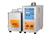 New 15kw 30-80khz Dual Station High Frequency Induction Heater Furnace Lh-15ab