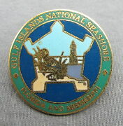 Gulf Islands National Seashore - Florida And Mississippi - Gold Tone Pin - 28mm