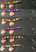 Copper Colorado 3 1/2 Lake Erie Walleye Candy Worm Harness 1 Set Of 6