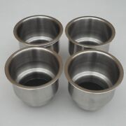 (4pcs)practical Stainless Steel Cup Drink Holder Marine Boat Car Truck Camper Rv
