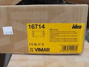 Qty 20 Vimar Idea 16714 Support Frame 4m Gray Free Shipping