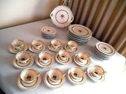 Rare Rosenthal Colonial Pearl Edge Dinnerware - 58 Pieces Mint Condition