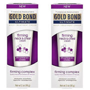 2 Pack Gold Bond Ultimate Body Treatment Firming Neck And Chest Cream 2 Oz Each