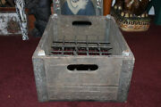 Antique Dairymenand039s League Ny Wood Milk Bottle Carrier Crate Holds 30 Bottles
