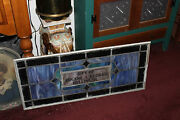 Antique Stained Glass Leaded Church Window Religious Eugene Bellinger Large