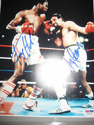 Larry Holmes And Gerry Cooney Signed 13x15 Framed And Ready To Hang Psa / Coa