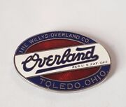 Overland Authentic Oval Radiator Emblem Small 1-1/4 Diameter Willys