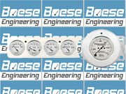 41 42 46 47 48 Chevy Car Dash Panel Inserts W/auto Meter Old Tyme White Gauges