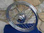For Harley Fx And Sportster Xl 1978-83 Chrome 40 Spoke 21x2.15 Front Wheel