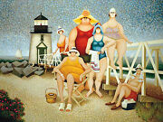 Lowell Herrero Beach Vacation Lighthouse Funny Family Print Poster 24x32