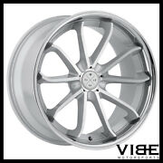 20 Blaque Diamond Bd23 Silver Concave Wheels Rims Fits Cadillac Cts V Coupe