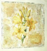 Starlie Sokol-hohnelillies-floral-still Life-mixed Media Art-prints-one Of One