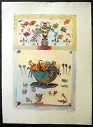 Bracha Guy-still Life With Fruit Bowl-floral-hand Colored-1of1- Art-prints