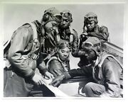 Tuskegee Airmen-wwii Fighter Pilots-military-air Force-art-b/w- Photograph