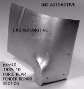 Ford Car Rear Fender Repair Section / Patch Panel Left 1935-1940 40l Ems