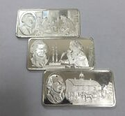 Sterling Silver 500 Grains Bar The 100 Greatest Americans 7-9