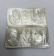 Sterling Silver 500 Grains Bar The 100 Greatest Americans 15and16