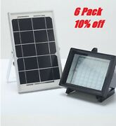 6 Pack Commercial Grade Multi Purpose 5w 60leds Flood Light With Solar Panel