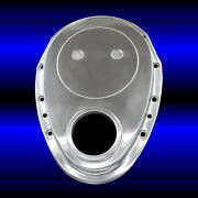 Small Block Chevy Polished Aluminum Timing Chain Cover Sbc 283 327 350 383 400
