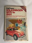 Vintage Chiltons Volkswagen Repair And Tune Up Guide For 1970-1981 Models