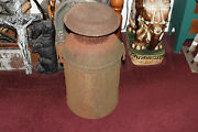 Antique Compton Dairy Metal Milk Can Container Very Large Country Decor Rusted