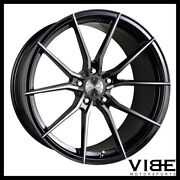 20 Vertini Rf1.2 Forged Black Concave Wheels Rims Fits Mercedes W220 S430 S500