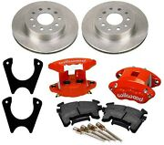 New Rear Brake Rotor,weld-on Bracket,and Wilwood Red D154 Caliper Set With Pads