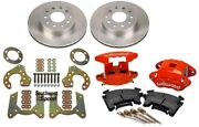 New Rear Brake Rotors,9 Ford Bolt-on Brackets,and Wilwood Red Caliper Set W/ Pads