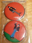 The Beatles Yellow Submarine 4 3.5 Badges 1968 King Features Vintage Rare