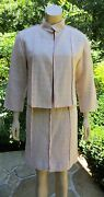 3 Pc Skirt Suit Jacket Sweater Sz 36 Authentic New With Tags 3815