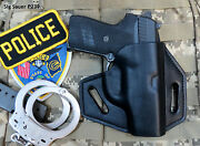 Vertical Pancake Holster For Sig Sauer P239 With Sweat Shield, Concealed Carry