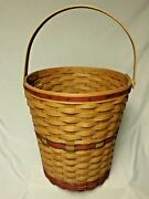 Longaberger 1991 Holiday Hostess Red Tree Trimming Basket A Must See