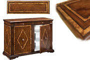 Solid Walnut Sideboard With Chestnut Inlays | Rustic Style Buffet High End