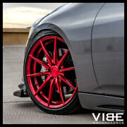 20 Rohana Rfx1 Red Forged Concave Wheels Rims Fits Infiniti G35 Coupe