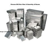 Economy Silver Gift Boxes Wholesale Jewelry Coins Collectibles Packaging Boxes