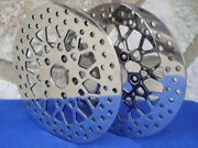 For Harley Mesh Front And Rear Spoke Brake Rotor Pair Parts Chopper