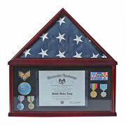 Shadow Box Flag Display Case For 5and039x9.5and039 Funeral Memorial Flag Fc07