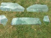 1971 1972 1973 Mustang Hardtop 5 Pc Side Back Rear Glass Set Green Tint Coupe 71