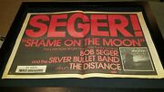 Bob Seger And The Silver Bullet Band Shame On The Moon Rare Poster Ad Framed
