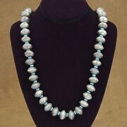 Navajo Coin Silver Mercury Dimes Turquoise Necklace Old Pawn Style