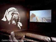 Gorilla Face Wall Decal Sticker By Stickerbrand 68in Width X 72in Height 461