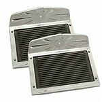 Polished Deluxe Aluminum Running Board Step Plate With Rubber Insert Set
