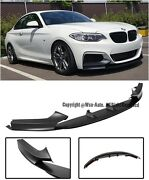 For 14-up Bmw F22 F23 2-series M Performance Style Front Lower Lip Splitter Kit