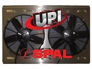 12 Hp Spal Fans On Aluminum Shroud With Louvers 26.00 X 19.50 - Made Usa