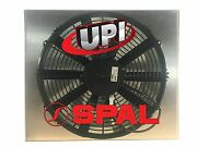 14 Spal Fan On Aluminum Shroud With Louvers 17.50 X 15.75 - Made Usa