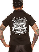 Dragstrip Clothing Women`s Rock N Roll Route 66 Hot Rod Rockabilly Diner Shirt
